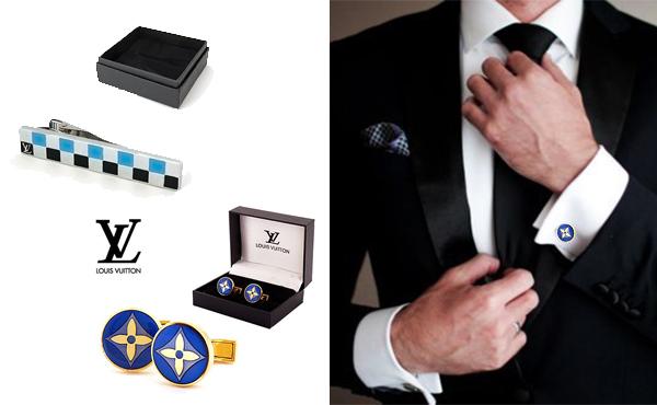 Запонки и зажим для галстука Louis Vuitton