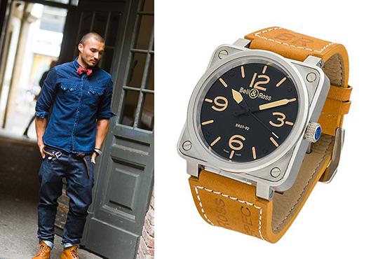 мужские брендовые часы Белл энд Росс