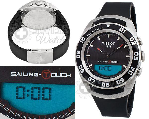 Часы Tissot с черным ремнем