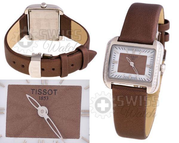 Часы Tissot на коричневом ремне
