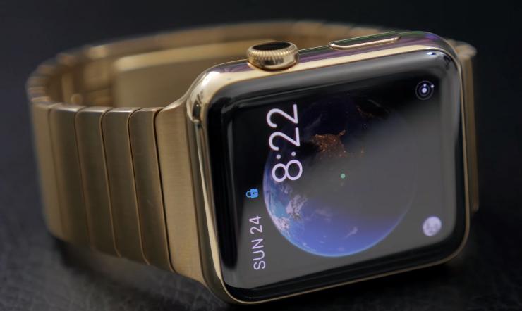 Apple Watch Edition з блоковим браслетом з чистого золота