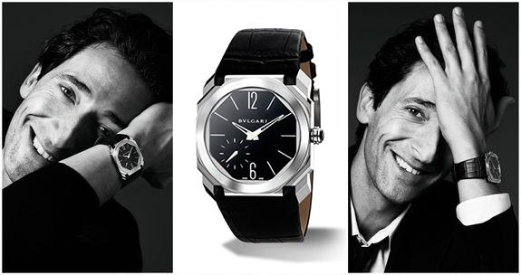 Едріан Броуді в рекламній кампанії годинника Octo Finissimo від Bulgari