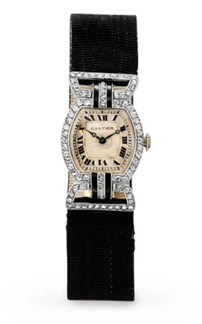 Годинник Елізабет Тейлор Cartier з діамантами і оніксом