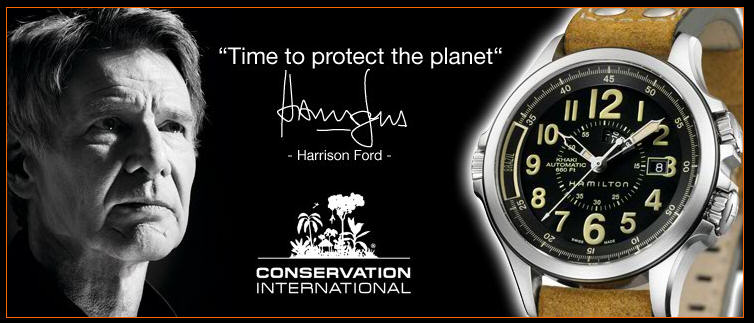 Hamilton Khaki Conservation Watch в честь Conservation International від Харрісона Форда