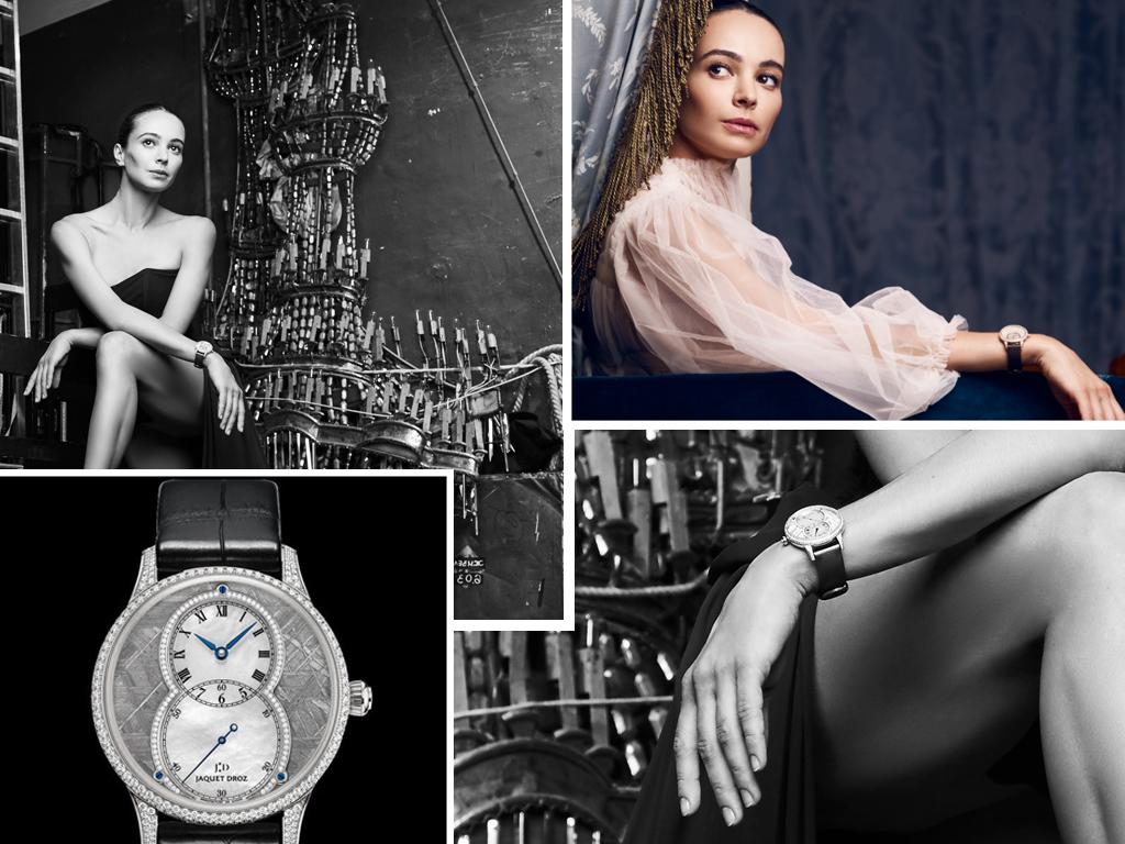 Діана Вишнева і її годинник Jaquet Droz з колекції Grande Seconde