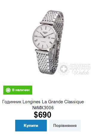 Годинник Longines La Grande Classique