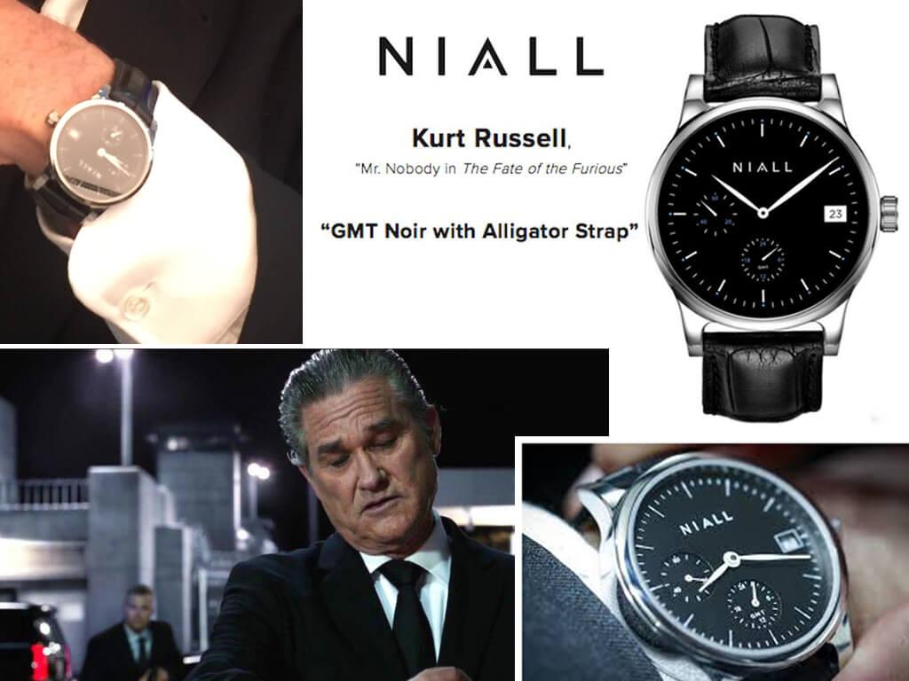 Niall GMT Noir - годинник Курта Рассела у фільмі «Форсаж 8»