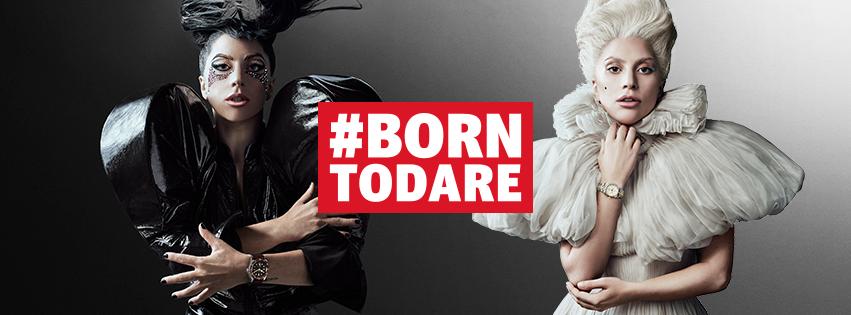 Lady Gaga в рекламній кампанії «Born to Dare» від Tudor