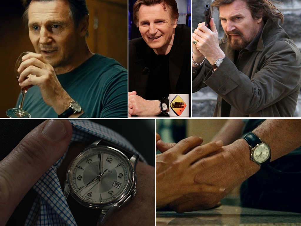 Ліам Нісон і його годинник Hamilton Watch Jazzmaster