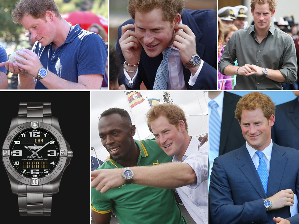 Принц Гаррі в годиннику Breitling Aerospace