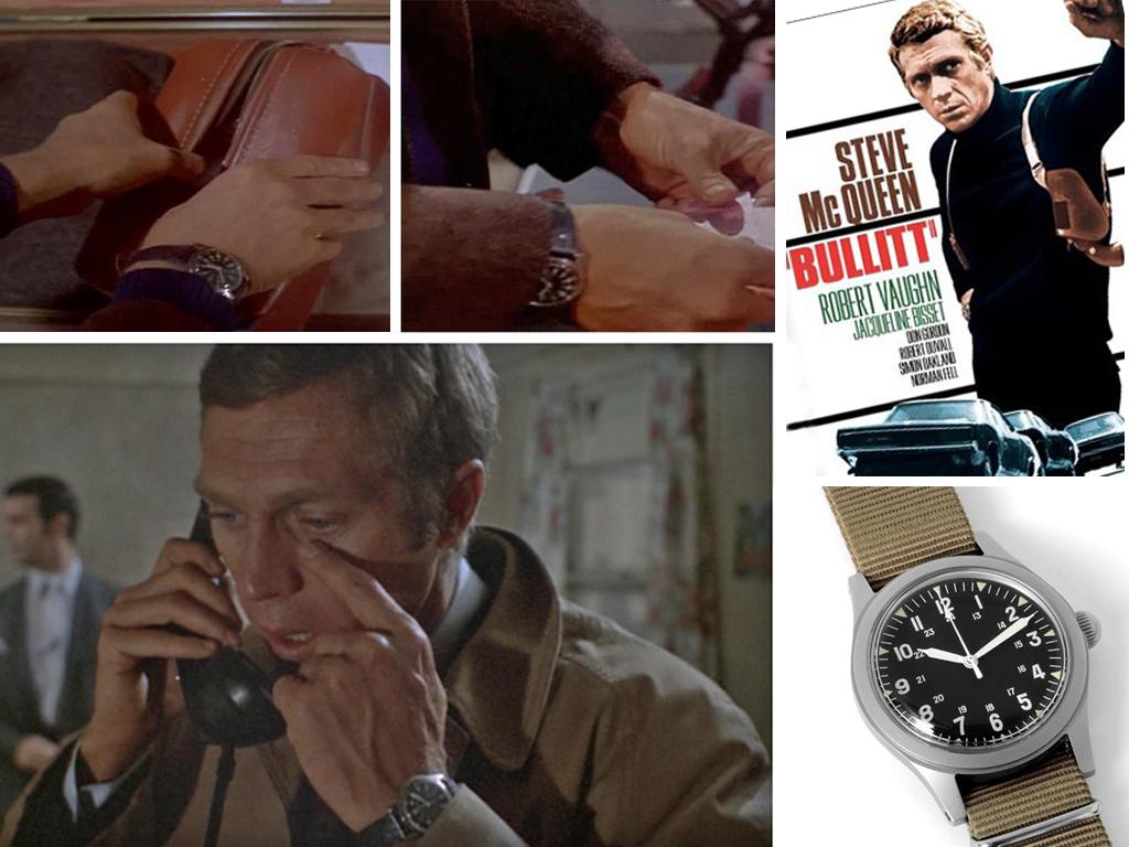 Лейтенант Булліт (Стів Макквін) і його годинник Hamilton