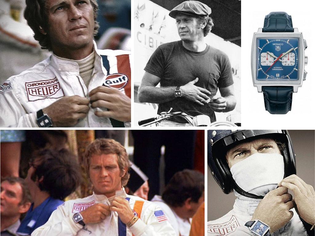Стів Макквін та його годинник Tag Heuer Monaco у фільмі Ле-Ман