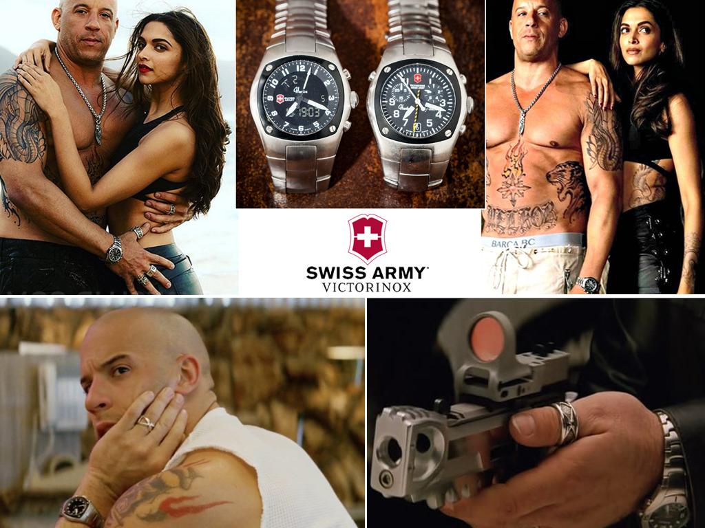 Він Дізель і його годинникSwiss ArmyVictorinox Hunter у фільмі хХх