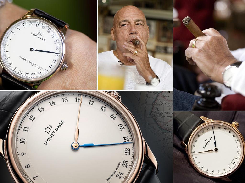Володимир Познер і його годинник Jaquet Droz Grande Heure GMT