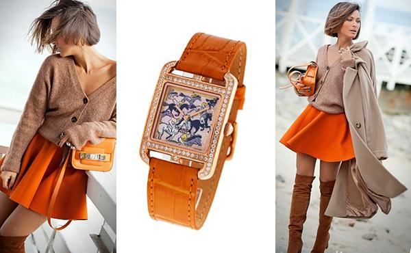 женские наручные часы Hermes