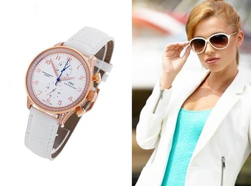 Женские наручные часы Айвиси белого цвета