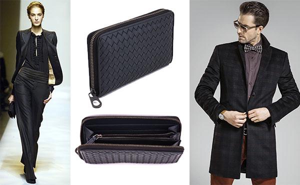 Кожаное портмоне унисекс от Bottega Veneta (Боттега Венета)