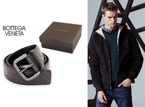 Кожаный мужской ремень от Bottega Veneta (Боттега Венета)
