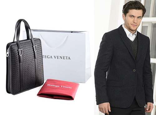 Мужская сумка из кожи Bottega Veneta (Боттега Венета)