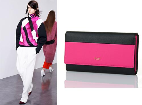 Женская клатч-сумка из кожи от Celine (Селин)