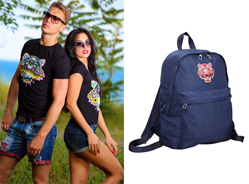Кожаный рюкзак унисекс от Kenzo (Кензо)