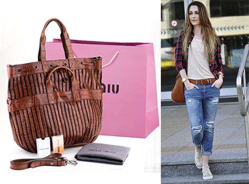 Кожаная сумка женская Miu Miu (Миу Миу)