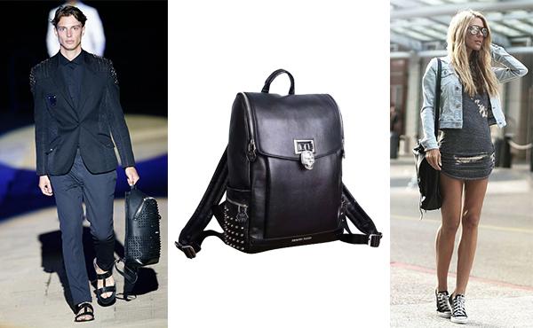 Кожаный рюкзак унисекс от Philipp Plein (Филипп Плейн)