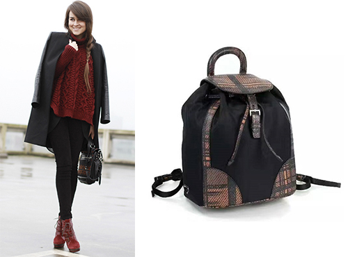 Женский рюкзак от Prada (Прада)