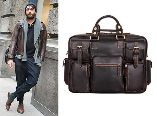 Мужская кожаная сумка Tiding Bag (Тайдинг Бэг)