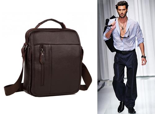 Мужская сумка-мессенджер из кожи Tiding Bag (Тайдинг Бэг)