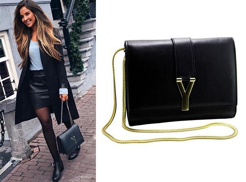 Клатч-сумка из кожи Yves Saint Laurent (Ив Сен Лоран)