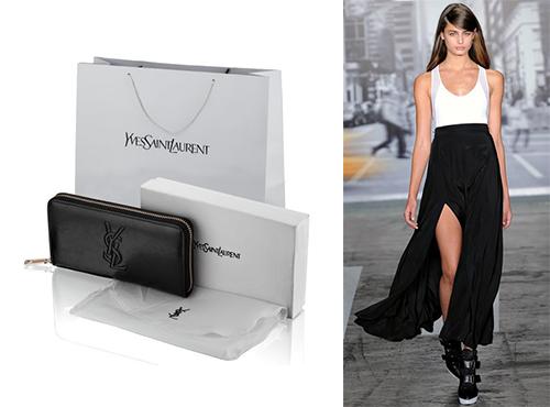 Жіночий шкіряний гаманець від Yves Saint Laurent