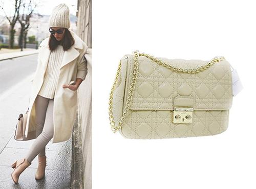 Сумка из кожи Christian Dior женская