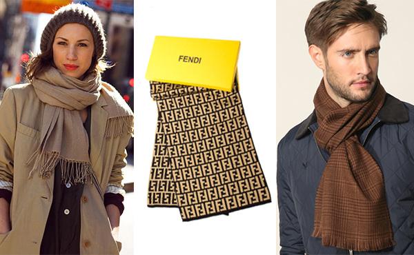 Брендовый шарф Fendi