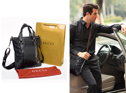 Шкіряна сумка від Gucci для чоловіка розпродаж
