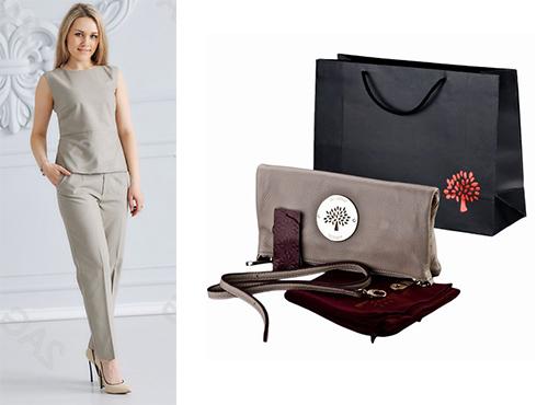 Женская клатч-сумка из кожи от Mulberry