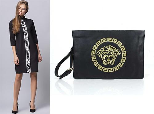 Клатч-сумка кожаная женская Versace