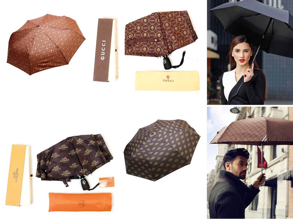 Дощові парасолі в темних кольорах виглядають стильно і до того ж універсальні