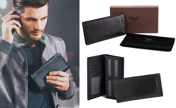 Чоловічий гаманець зі шкіри від Giorgio Armani