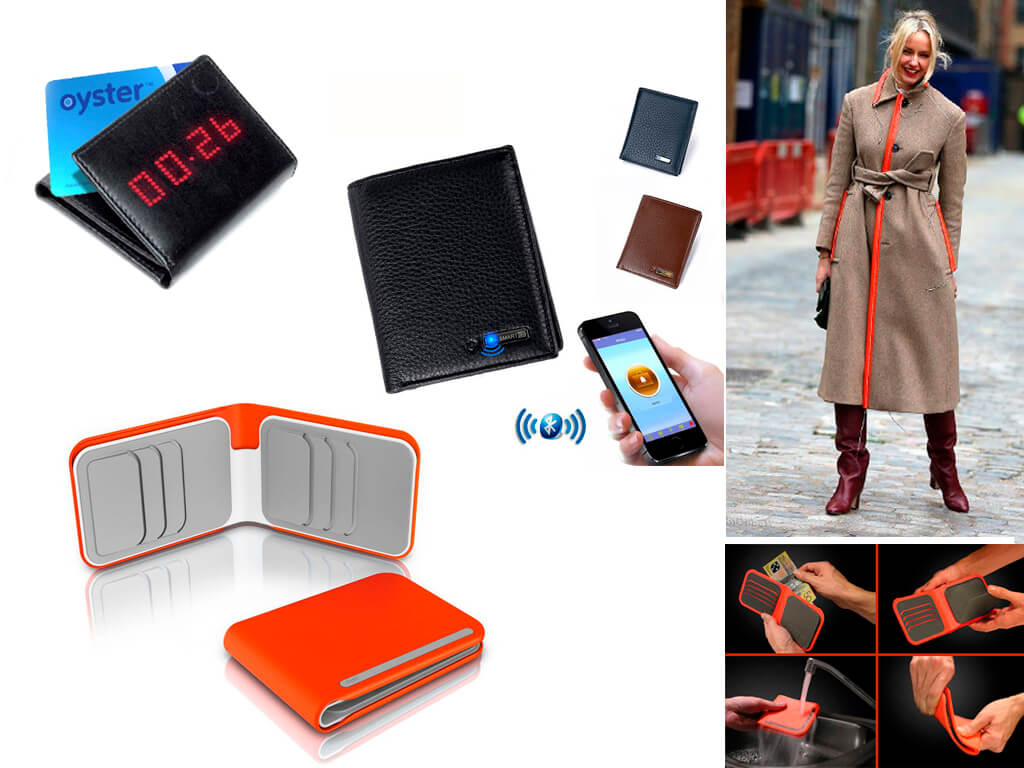Оригінальні гаманці: з цифровим табло, що відображає залишок на рахунку, прогумований з захистом від води і сенсорний, що надає доступ виключно власнику