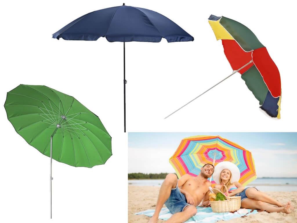 Пляжна парасолька з діаметром купола 1,8 м оптимальна для захисту від сонця однієї людини