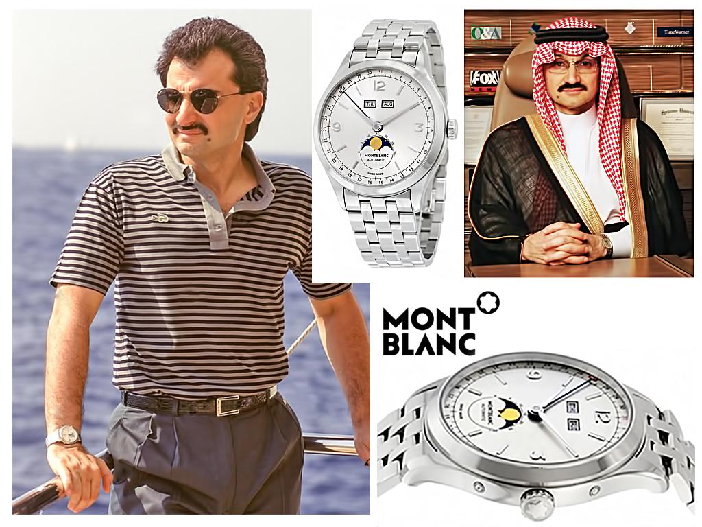 Принц Аль-Валід і його годинник Montblanc Chronométrie Quantième Complet.