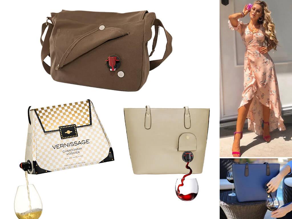 Жіночі сумки з ємністю для вина зовні важко відрізнити від звичайних жіночих сумок