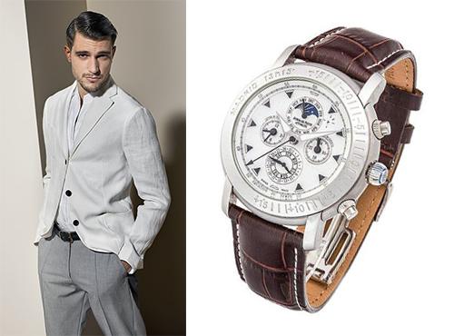 Мужские часыAudemars Piguet на кожаном ремешке