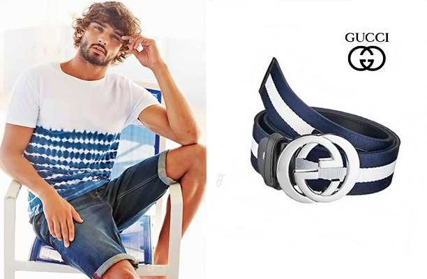 Тонкі комбіновані (шкіра + тканина) ремінці добре поєднуються з брюками і шортами в спортивному стилі