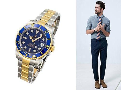 Наручний чоловічий годинник Ролекс d981c44704b8b